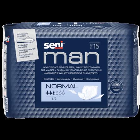 Wkłady anatomiczne Seni Man Normal 15 SZT